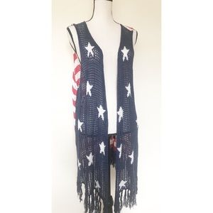 Sweaters - America Flag Inspired Sweater Vest